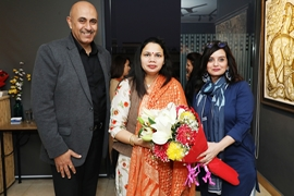 Deputy  Mayor  Promila Gaje Kabalana  unveiled the painting exhibition – Bahara Notes From Spring