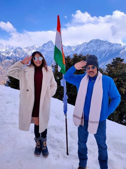 Hindi Film MISS MASALA DOSA Song Shoot at Auli Uttrakhand with Lavina Israni & Ojas Rawal