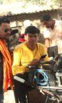 Pramod Premi  Is Shooting For His Bhojpuri Film Prem Rang In Varanasi