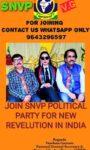 VANDANA GAUTAM IS THE NATIONAL GENERAL SECRETARY AND NATIONAL SPOKESPERSON OF SANYUKT VIKAS PARTY (SNVP) IN INDIA